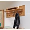 NATURE-PLUS Garderoben-Paneel mit 4 Haken Kernbuche lackiert teilmassiv