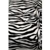 Polsterhocker im Tierfellmuster Zebra schwarz weiss Animals