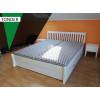 Bett mit Stauraum 160x200 aus Kiefer Massivholz weiß TONDER