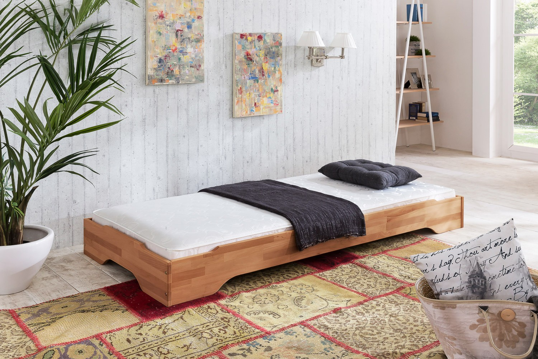 JUIST Stapelbett 90x200 Gästebett Kernbuche massiv | Schlafzimmer > Betten > Gästebetten | Kernbuche - Geölt - Massivholz | Empinio24