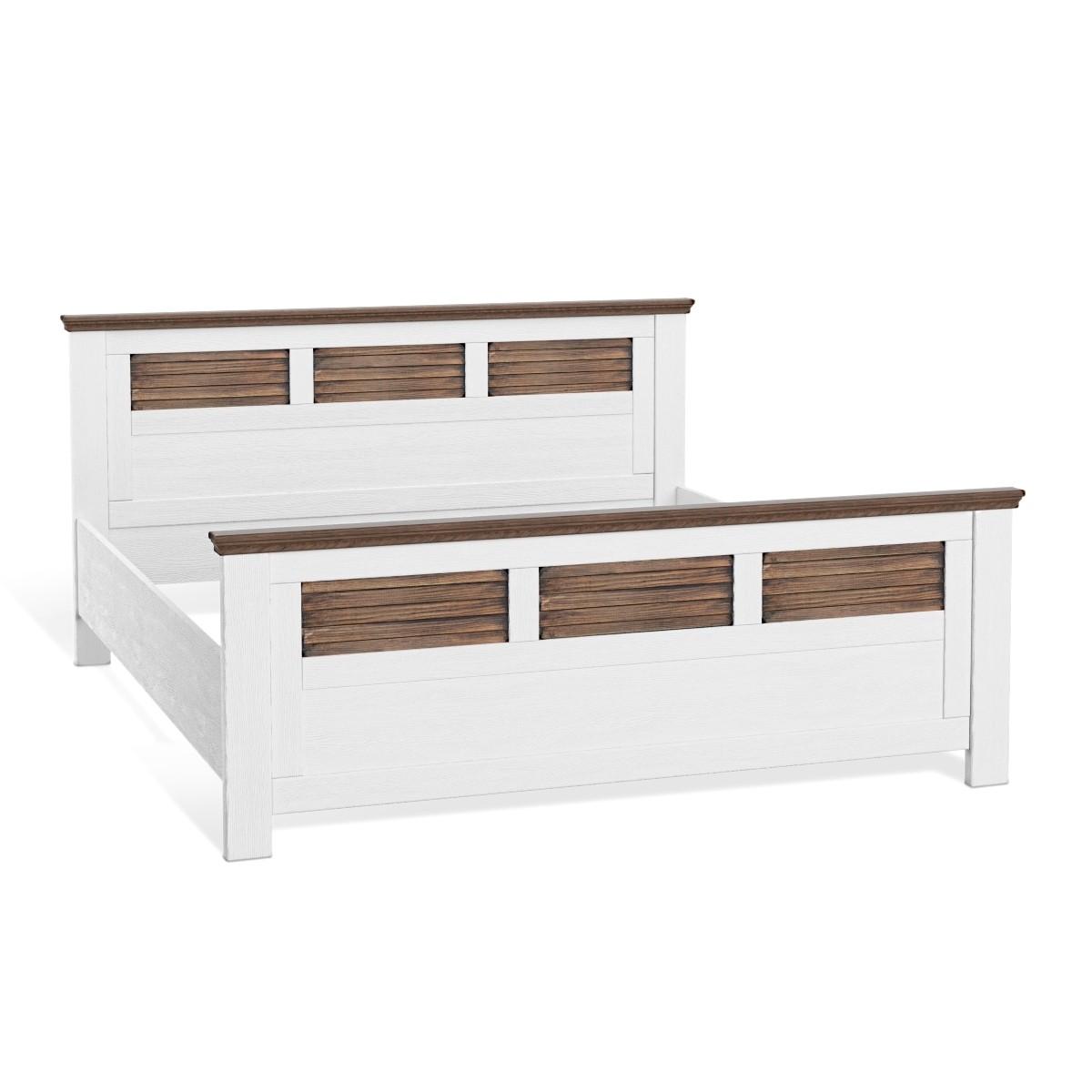 Empinio24 Landhausbett LAGUNA 180x200 cm Farbe Weiß Pinie Massivholz / Teilmassiv Breite 191 cm | Schlafzimmer > Betten > Landhausbetten | Empinio24