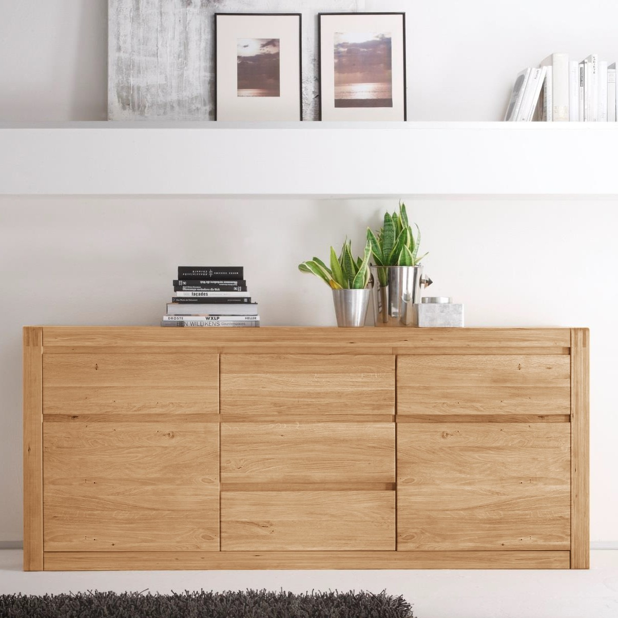 eiche bianco teilmassiv sideboards online kaufen m bel suchmaschine. Black Bedroom Furniture Sets. Home Design Ideas