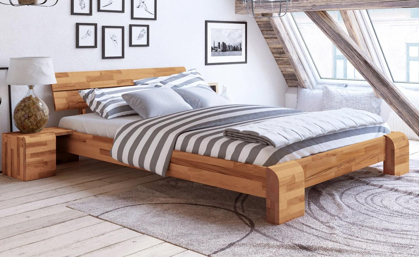 Doppelbett 180x220 ÜBERLÄNGE Kernbuche massiv Seti High | Schlafzimmer | EMPINIO24